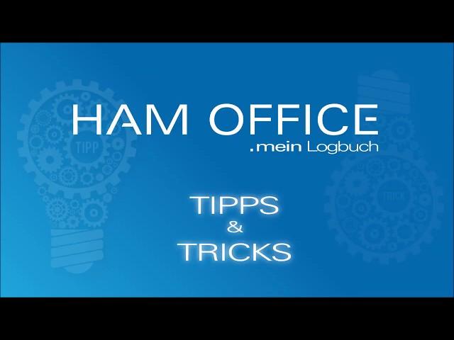 Youtube-Startbild zu HAM OFFICE Tipps: Eingabehilfen in HAM OFFICE .mein Logbuch