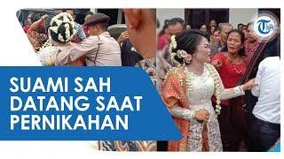 Viral, Suami Sah Datang saat Pernikahan Sang Istri