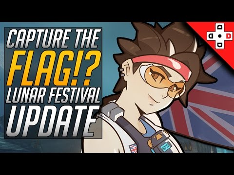 CAPTURE THE FLAG in Overwatch! Lunar Festival Update + Rosewill Keyboard Review