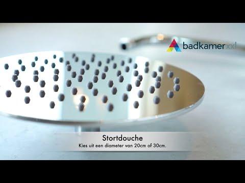 Brauer Chrome Edition stortdoucheset - hoofddouche 30cm - staafhanddouche - chroom