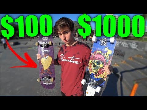 SKATE DE R$100 VS R$1000 #2
