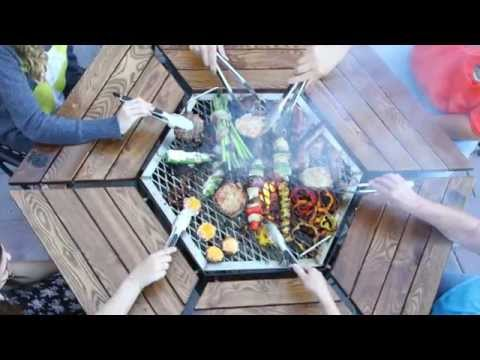 6 Seat JAG Grill Features (Grill / Firepit / Table)