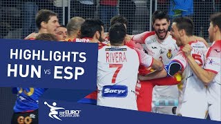 Highlights | Hungary vs Spain | Men's EHF EURO 2018