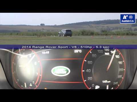 2014 2013 Range Rover Sport V8  0-160 km/h 0-100 mph