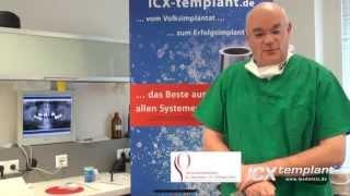 Sieben ICX-templant® Implantate im Ober- und Unterkiefer