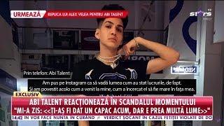 Reacţia lui Abi Talent la adresa lui Alex Velea!
