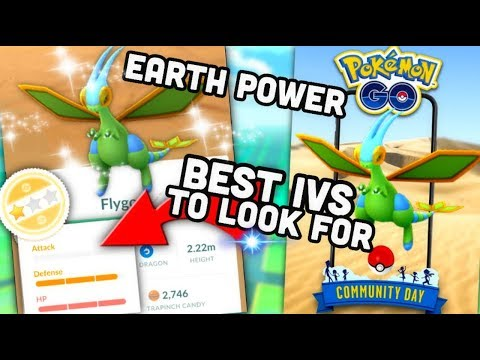 Shiny Flygon Earth Power is it good? | Pokemon GO | Best IVs to look for & why