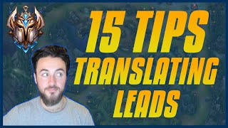 My Top 15 Tips For Translating Leads and Winning Games - NEVER THROW AGAIN! - Mid Lane