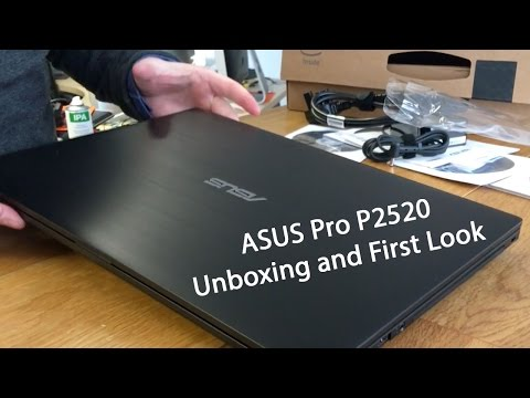 "Asus Pro P2520 15.6"" Windows Laptop unboxing & First Look"