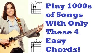 Easiest Beginner Guitar Chords - First 4 Chords You NEED To Learn