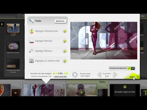Tutorial Kizoa en español: Insertar imágenes, videos, texto, transiciones, música, exportar.