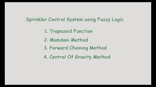 Sprinkler Control System using Fuzzy Logic (Python)