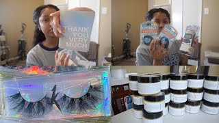 How to Easily Brand/Label Your Lashes & Dymo Label Maker Demo   Entrepreneur Life Vlog EP. 13