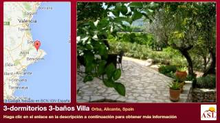 preview picture of video '3-dormitorios 3-baños Villa se Vende en Orba, Alicante, Spain'