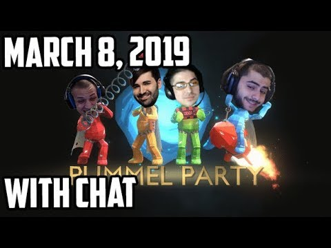 Tyler1 plays Pummel Party w/ Trick2g, Voyboy & Yassuo [WITH CHAT] [March 8, 2019]