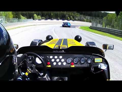 Caterham R300 vs Porsche 934 on Track