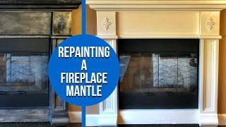 How To Repaint A Fireplace Mantel - DIY Project And Special Message