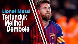 Dembele Gagal Manfaatkan Peluang Emas untuk Cetak Gol, Messi Tertunduk dan Jatuhkan Badan ke Tanah