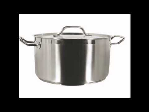 Thundergroup stainless steel stock pot with lid SLSPS016 16 quarts NSF certified