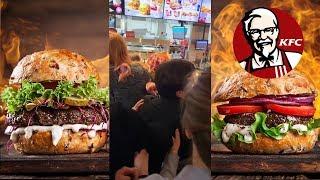 Давка в KFC или как урвать халявный бургер. Это Москва