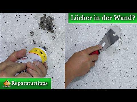 Löcher in der Wand?  Kleine Schäden selber reparieren von M1Molter