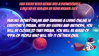 I will teach you my private methods to make money online