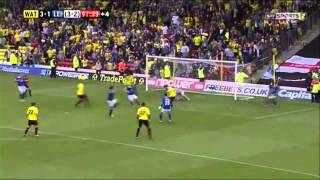 Watford 3 - 1 Leicester - Final Two Minutes - Penalty + Troy Deeney Goal