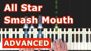 Smash Mouth - All Star - Piano Tutorial Easy - Shrek - Sheet Music (Synthesia)