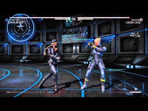 Mortal Kombat X - Sonya Blade vs Cassie Cage