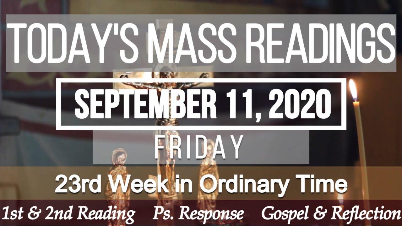 Catholic Daily Mass Reading Friday 11 September 2020