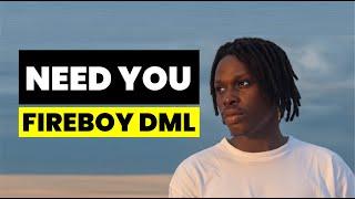 Fireboy DML - Need You (Lyrics)