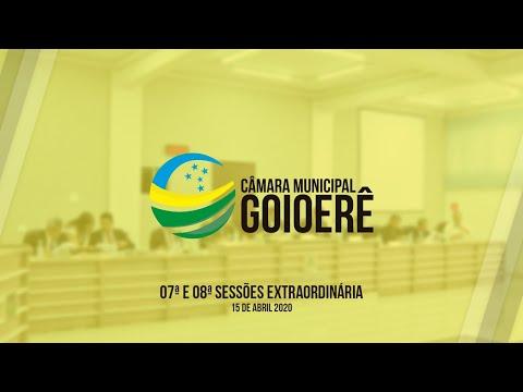 07ª e 08ª Sessão Extraordinária | 2020