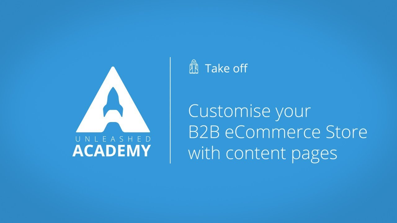 Customise your B2B eCommerce Store with content pages YouTube thumbnail image