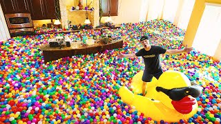 FILLING MY ENTIRE HOUSE WITH PLASTIC BALLS...
