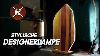 Diese Lampe ist bei Tag und Nacht ein echter Blickfang | Indirekte Massivholz - Lampe selber bauen