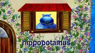 """Hippo and House- Lower Case Alphabet """"H"""""""