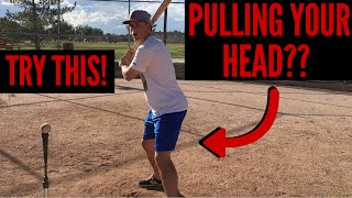 Baseball Hitting Drills for Kids Who Pull Their Head! (QUICK FIX!)