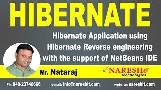 Hibernate Application Using Hibernate Reverse | Mr.Natraj