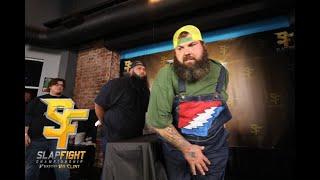 'Crazy Hawaiian' & 'Hillbilly Hippie' go to WAR at SlapFIGHT! 700+lbs of Super Heavyweight Action!