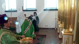 Патриарх Кирилл освятил надвратный храм святых апостолов Петра и Павла в Валаамском монастыре