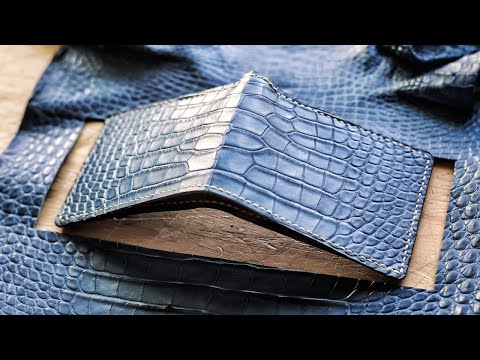 Hermes alligator leather wallet reproduction [14:30]