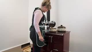 Отопительно-варочная печь с водяной рубашкой KVS Moravia 9100-V Бордовая від компанії House heat - відео 2