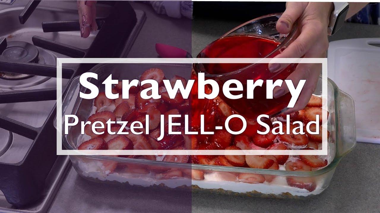 Strawberry Pretzel JELL-O Salad