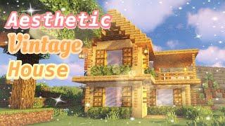 𝓐𝓮𝓼𝓽𝓱𝓮𝓽𝓲𝓬 Minecraft Vintage House- Minecraft Build Tutorial