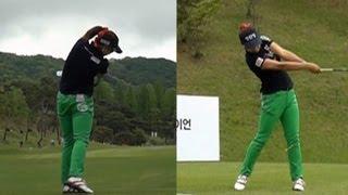 [Slow HD] YANG Soo-Jin Dual View Driver Golf Swing 2013 (1)_KLPGA Tour