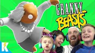 Granny in Gang Beasts! (Family Battle Part 2) KIDCITY GAMING