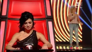 The Voice of Italy.Jennifer Vargas . La voz. 2016 Italia.  RAI2.