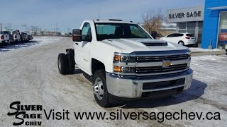 Stock#T17158 Brand New 2017 Chev 3500 Cab & Chassis L5P Diesel DRW