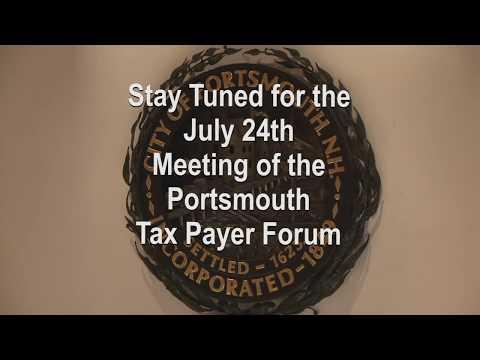 Tax Payer Forum 7.24.2019