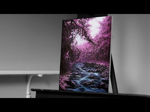painting cherry blossom trees with acrylics by ryan